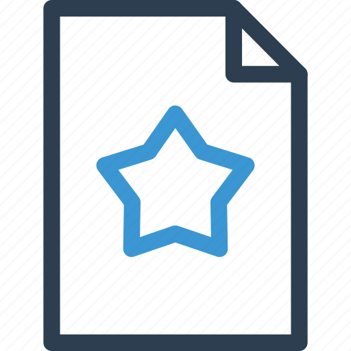 best, favorite, file, format, list, star, type icon