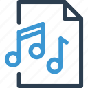 file, format, list, melody, music, song, type icon