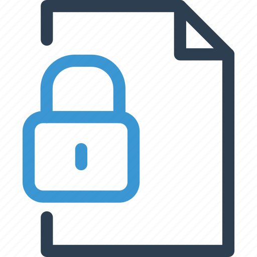 file, format, list, lock, password, security, type icon