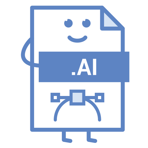 computer, document, file, format, illustrator, type icon