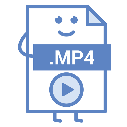 computer, document, file, format, mp4, type, video icon