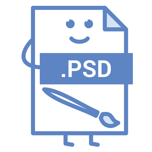 computer, document, file, format, photoshop, psd, type icon