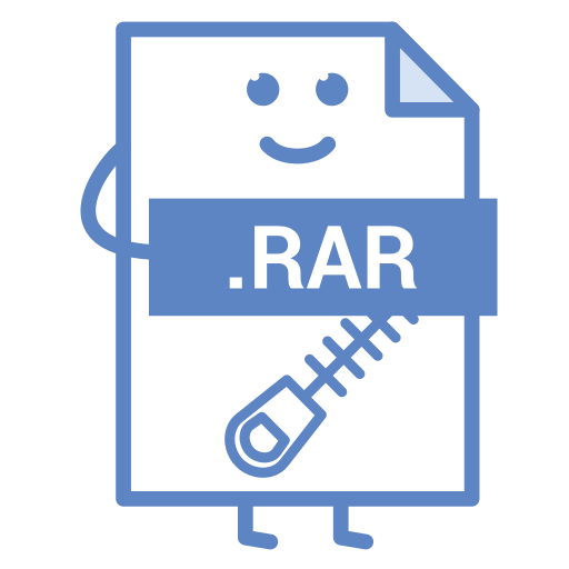 compressed, computer, document, file, format, rar, type icon