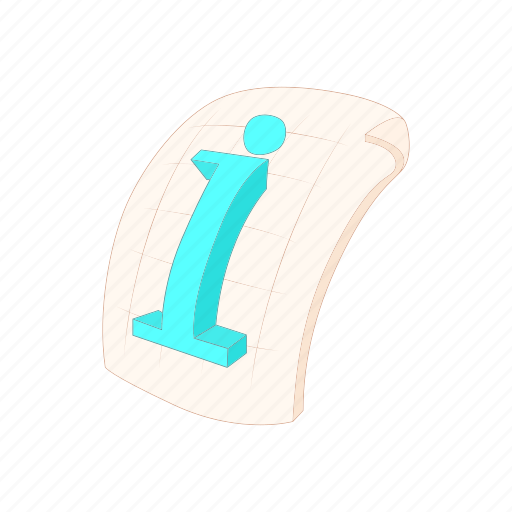 business, cartoon, document, file, i, information, tool icon