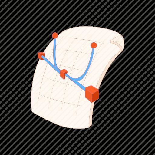 cartoon, document, encapsulated, eps, file, format, postscript icon