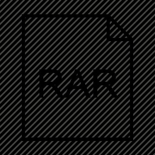 archive, document, file formats, file type, filename extension, rar, rar archive icon