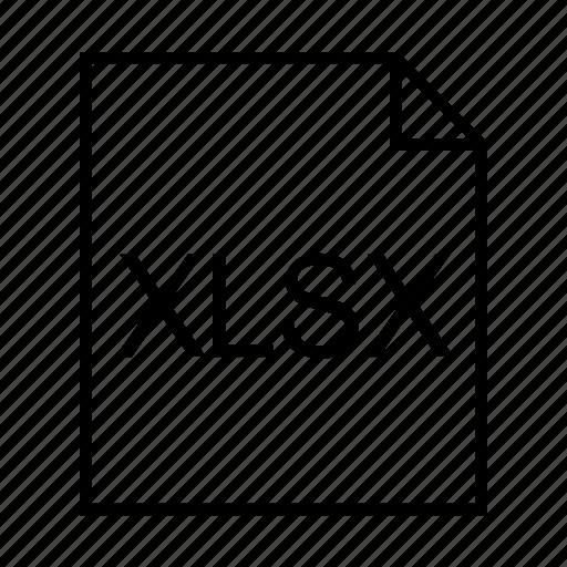 document, file formats, file type, filename extension, xlsx, xlsx document, xlsx format icon