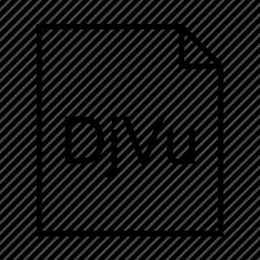 djvu document, djvu file, djvu format, document, file formats, file type, filename extension icon