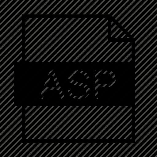 asp, asp file, asp.net, document, file formats, file type, filename extension icon