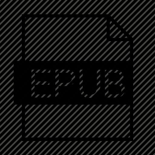 document, ebook, epub, epub file, file formats, file type, filename extension icon