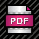acrobat file, adobe pdf, extension, file, format, pdf, type icon