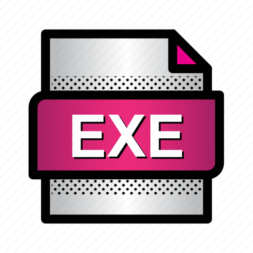 app, exe, exe file, extension, file, format, type icon