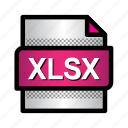 excel, extension, file, format, type, xlsx, xlsx file icon