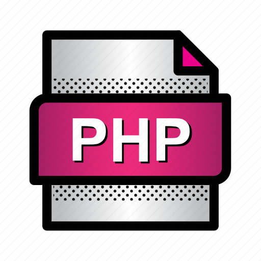 document, extension, file, format, php, php document, type icon