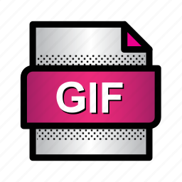 document, extension, file, format, gif, gif file, type icon