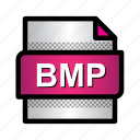 bitmap image, bmp, document, extension, file, format, type icon