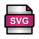 extension, file, format, svg format, type, vector graphics icon