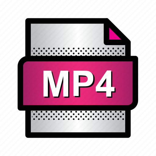 extension, file, format, mp4, mpeg, multimedia, type icon
