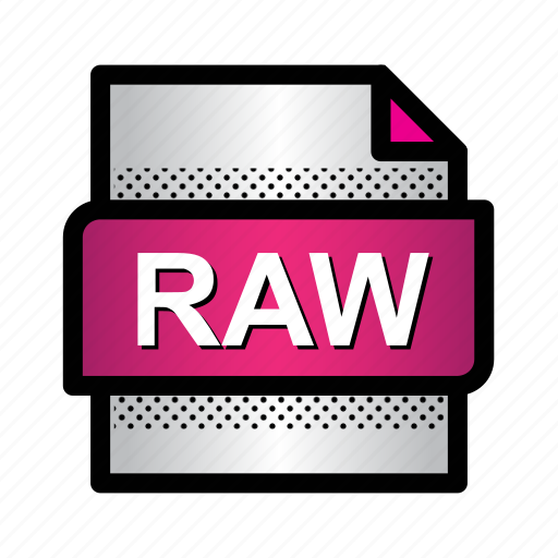 extension, file, format, image, raw image, raw photo, type icon