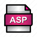 asp, aspnet, document, extension, file, format, type icon