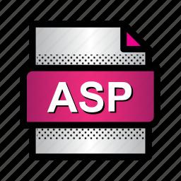 asp, aspnet, document, extension, file, format, type icon