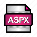 aspx, extension, file, format, type icon