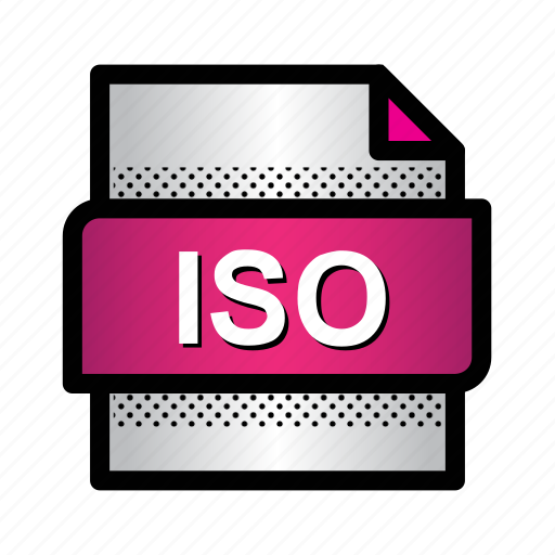 document, extension, file, folder, format, iso, type icon