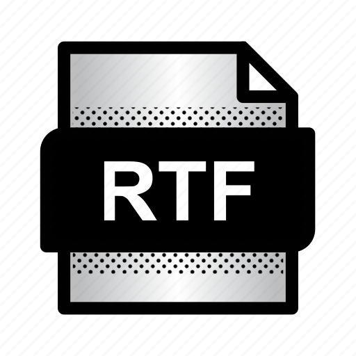 extension, file, format, rtf, rtf file, text document, type icon