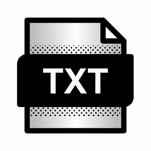 extension, file, format, plain text, text document, txt, type icon