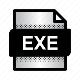 document, exe, exe file, extension, file, format, type icon