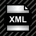 extension, file, format, type, xml, xml document icon