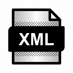 document, extension, file, format, type, xml, xml document icon