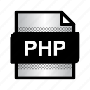 document, extension, file, format, php, php file, type icon