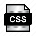 css, css document, extension, file, format, type icon