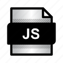 document, extension, file, format, javascript, js, type icon