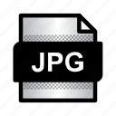 extension, file, format, jpg, jpg file, jpg image, type icon