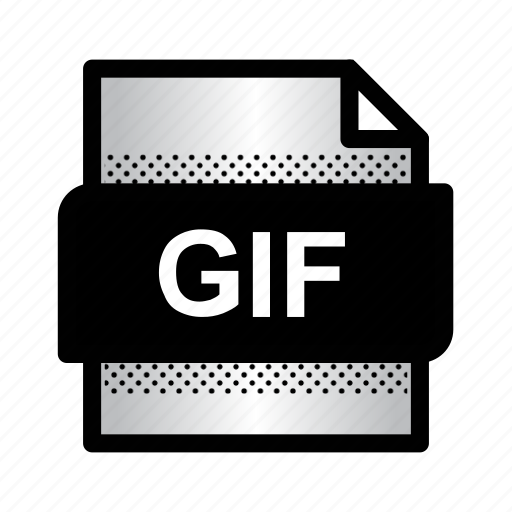 document, extension, file, format, gif, gif image, type icon