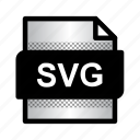 document, extension, file, format, svg file, svg format, type icon
