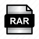document, extension, file, format, rar, rar archive, type icon