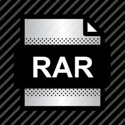 document, extension, file, format, rar, rar archive, type icon
