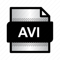 avi, avi video, extension, file, files, format, type icon
