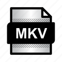 extension, file, format, mkv, mkv movie, mkv video, type icon