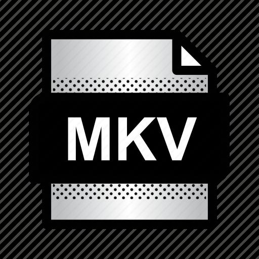 extension, file, format, mkv, mkv movie, mkv video, type icon