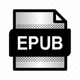 epub, epub book, extension, file, files, format, type icon