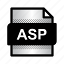 asp, asp file, document, extension, file, format, type icon