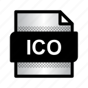 document, extension, file, format, ico, ico file, type icon