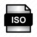 document, extension, file, format, iso, iso file, type icon