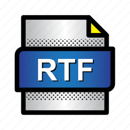 extension, file, format, rtf, text document, text file, type icon