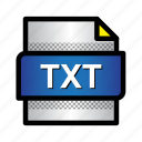 document, extension, file, format, lain text, txt, type icon