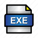 app, exe, extension, file, format, type icon